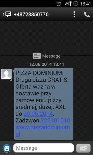 spam pizza dominium