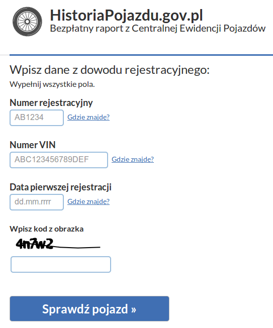 HistoriaPojazdu.gov.pl