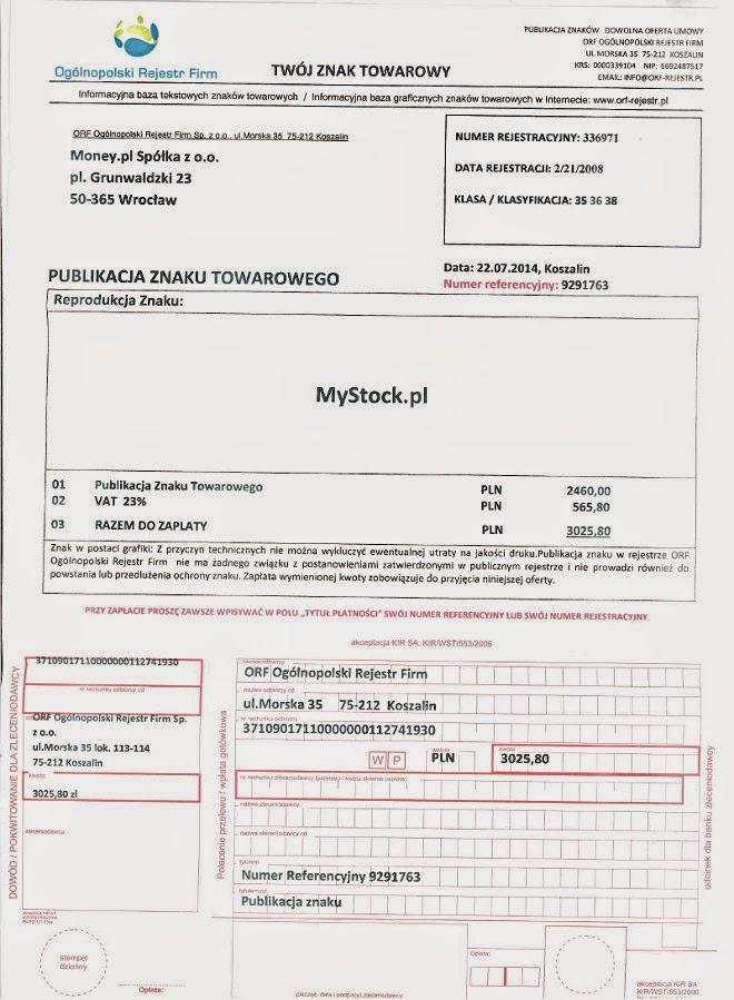 Ogólnopolski Rejestr Firm -- nie podpisywać! nie odsyłać! nie płacić!!