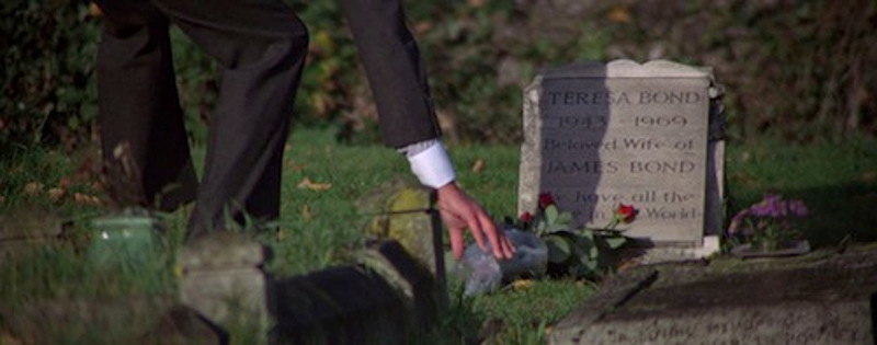 James Bond parents tombstone