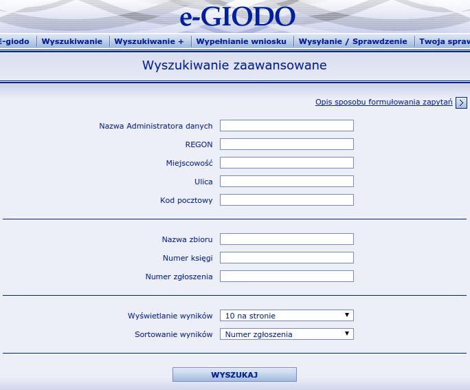 rejestracja ABI w GIODO