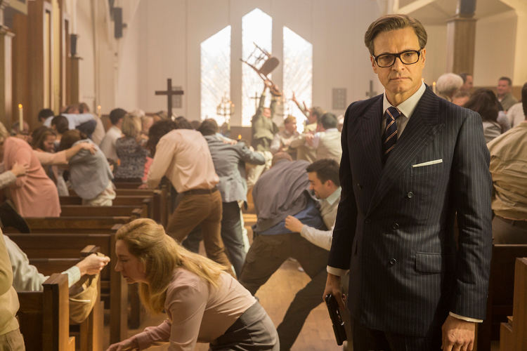 Kingsman recenzja church fight