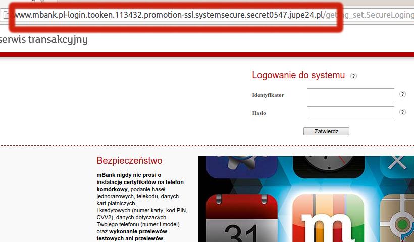phishing mBank jupe24.pl