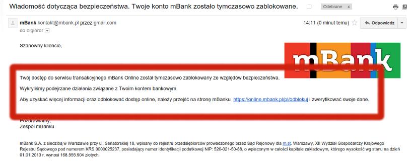 mBank phishing