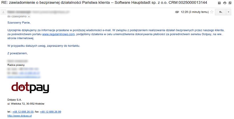 software hauptstadt spam