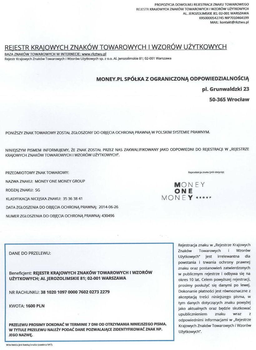 Rejestr Krajowych Znaków Towarowych i Wzorów Użytkowych