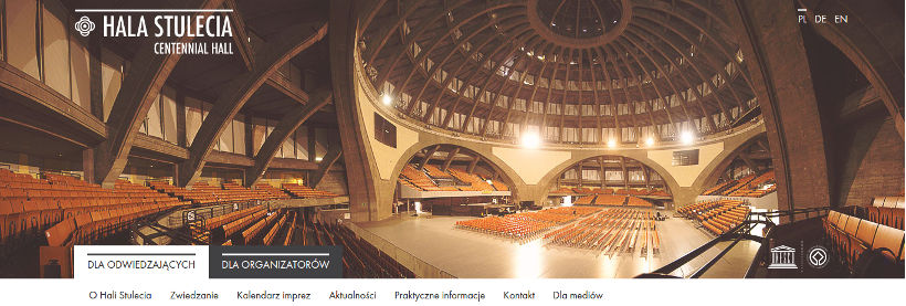 wizerunek budynku -- strona internetowa Hala Stulecia