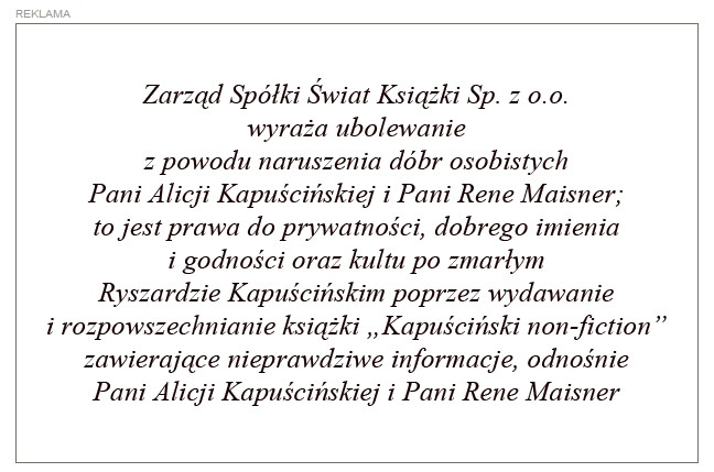 proces o kapuściński non fiction