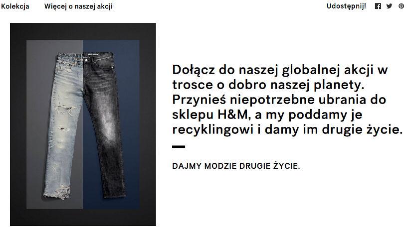 HM recykling spodni