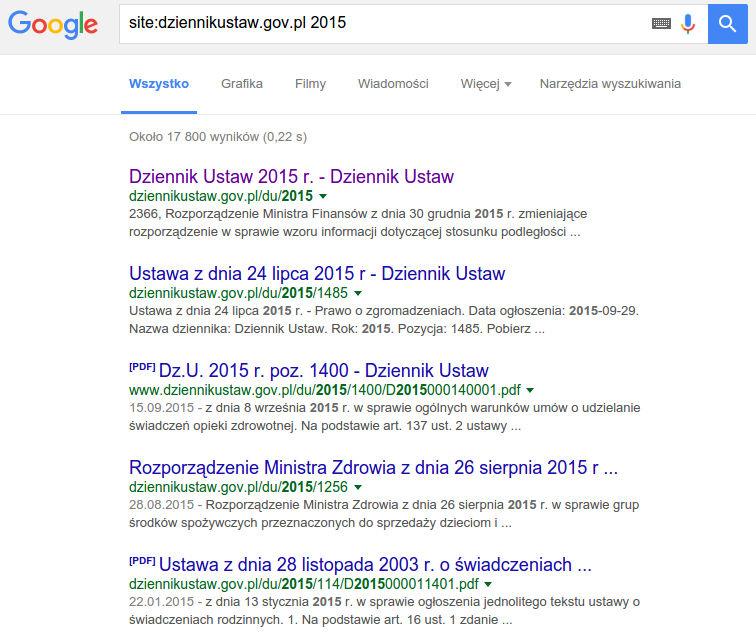 DziennikUstaw.gov.pl: zmiana adresów