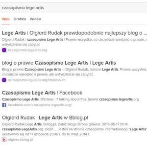 naruszenie praw konkurencji reklama wyszukiwarce