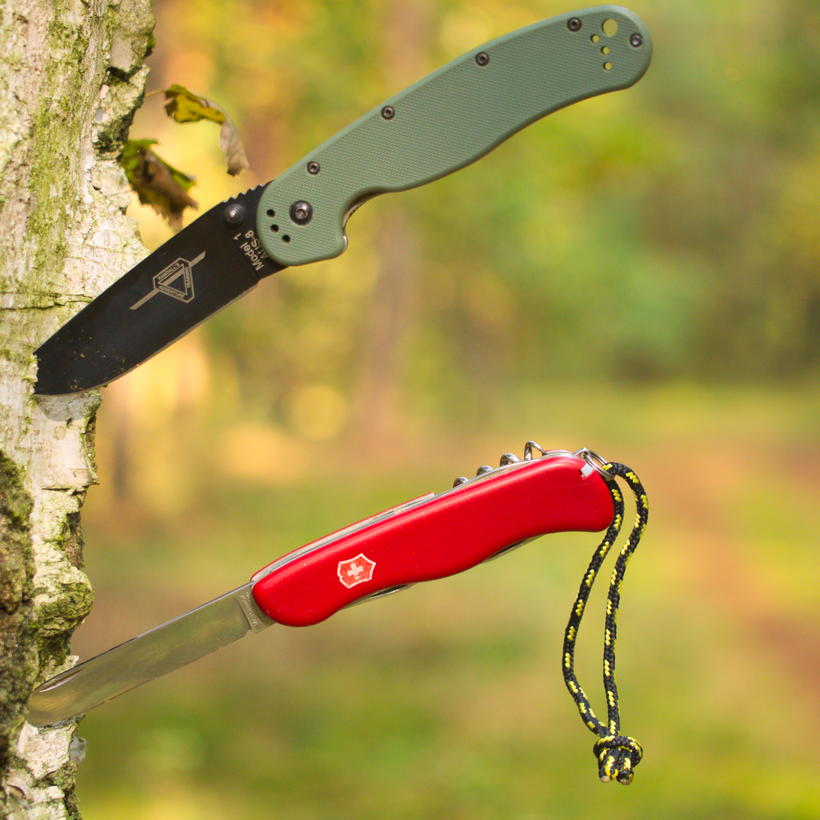 scyzoryk czy nóż składany (Ontario RAT-1 vs. Victorinox Picknicker)