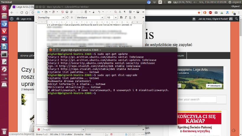 Ubuntu praca prawnik linux