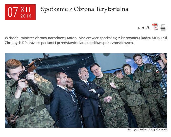 Wojska Obrony Terytorialnej ustawa