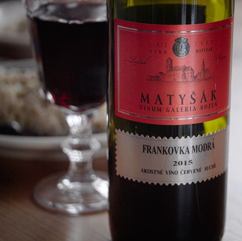 Víno Matyšák Frankovka modrá 2015