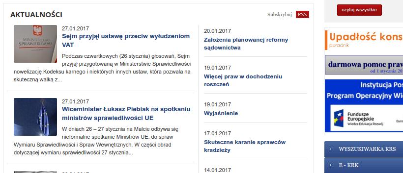 urzędowy serwis internetowy prasa