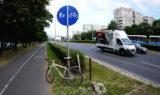 kara jazda rowerem poza drogą dla rowerów