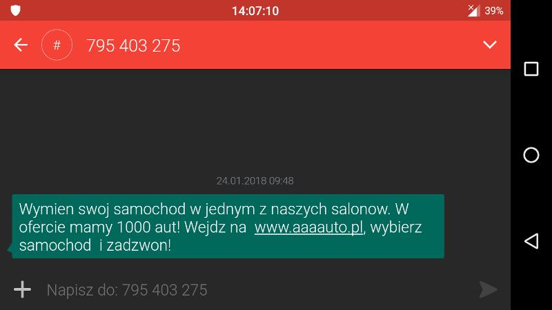 AAA Auto spam