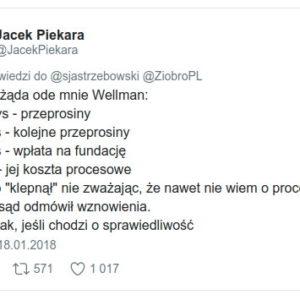 Wellman Piekara wyrok zaoczny