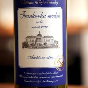 Château Topolcianky Frankovka Modrá Archívne víno 2012
