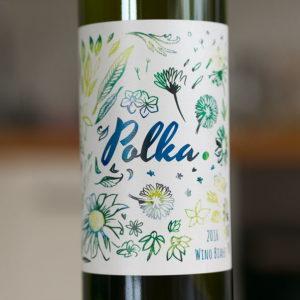 Białe wino Polka