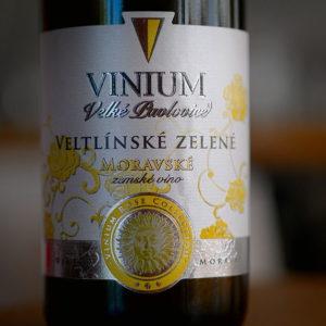 Vinium Velké Pavlovice Veltlínské zelené Moravské zemské víno