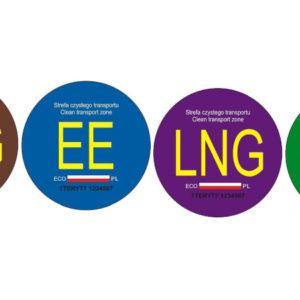 nalepki oznaczenia pojazdów elektromobilności