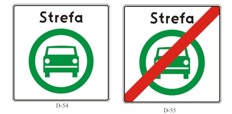 znaki drogowe strefa czystego transportu