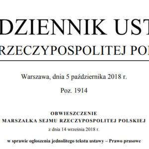 prawo prasowe tekst jednolity 2018