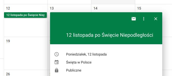Google 12 listopada