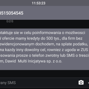 multi inicjatywa sms spam