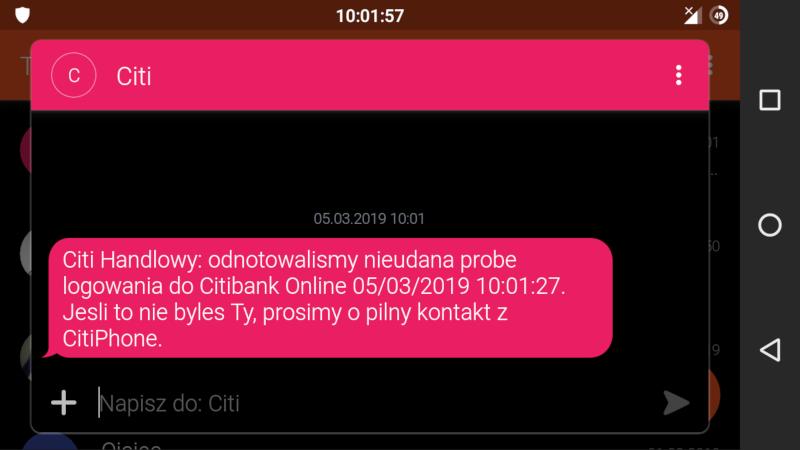 Zignorowanie ostrzeżeń klienta banku