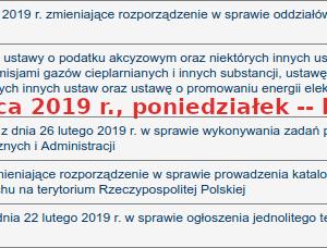 brak Dziennika Ustaw 2019