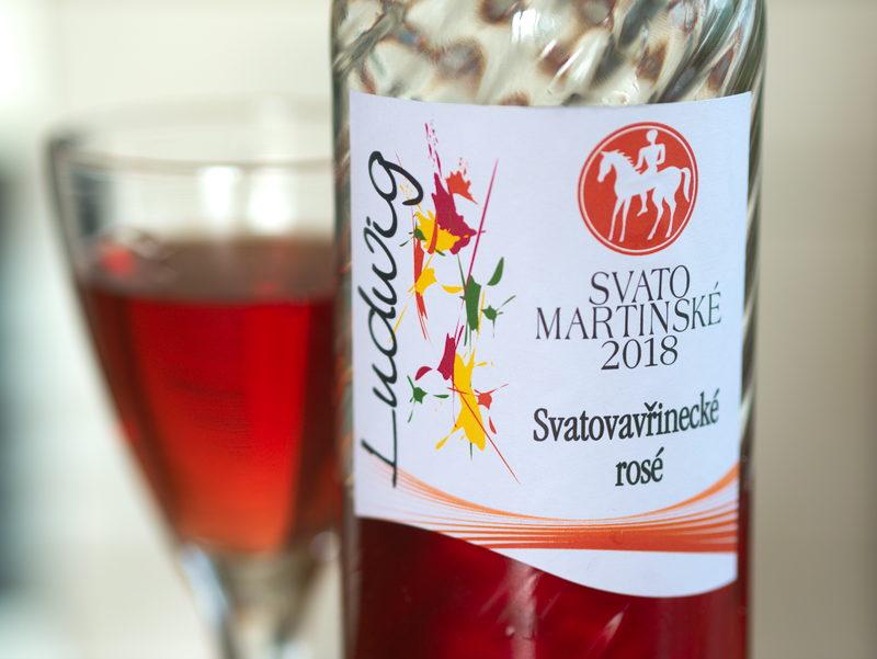 Vinařství Ludwig Svatomartinské Svatovavřinecké rosé 2018