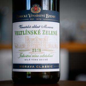 Bzenec Jakostní víno odrůdové Veltlínské zelené 2016