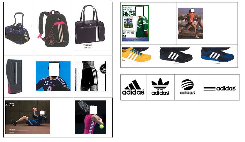 Trzy paski Adidasa znak towarowy