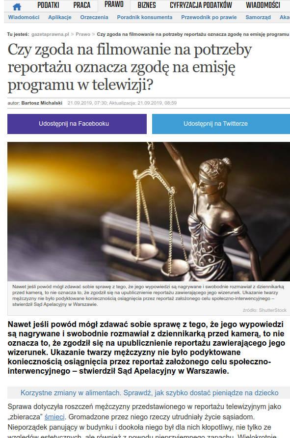 Gazeta Prawna plagiat artykułu