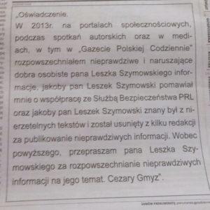 przeprosiny gazecie polskiej codziennie