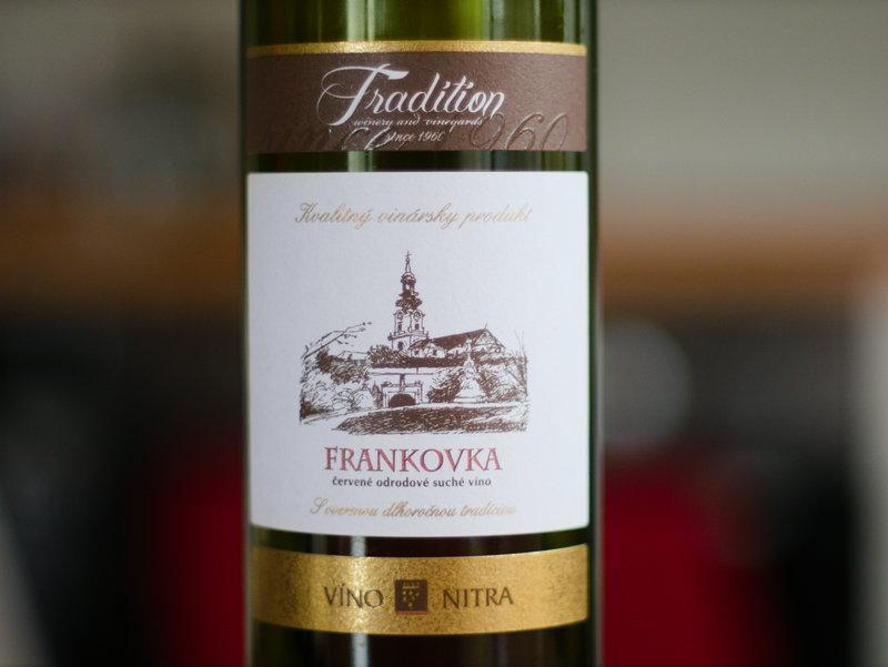 Víno Nitra Frankovka tradition