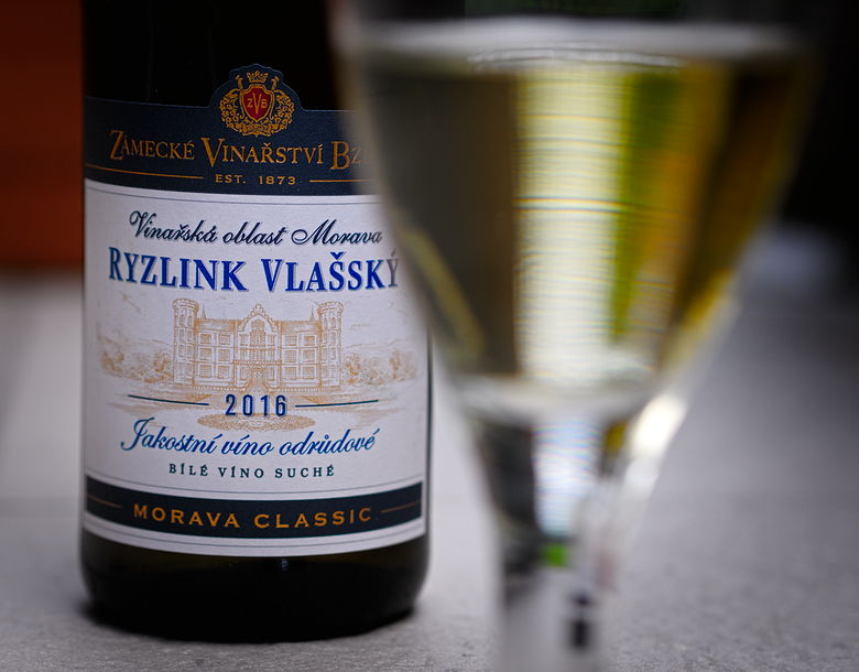 Zámecké vinařství Bzenec jakostní víno odrůdové Ryzlink Vlašský 2016