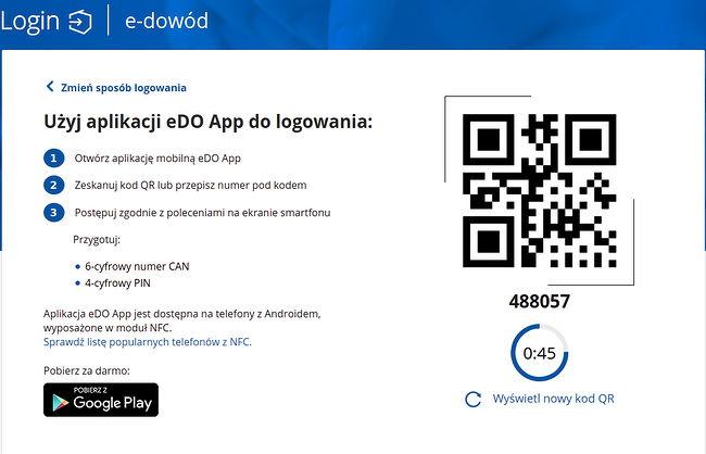 logowanie dowodem osobistym gov.pl