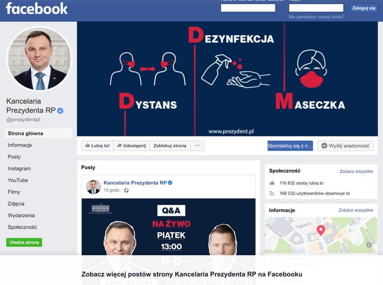 urzędowe konta facebook twitter informacja publiczna