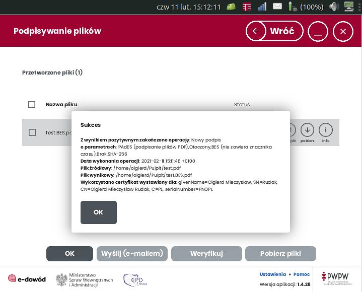 kwalifikowany podpis elektroniczny warstwie elektronicznej dowodu osobistego