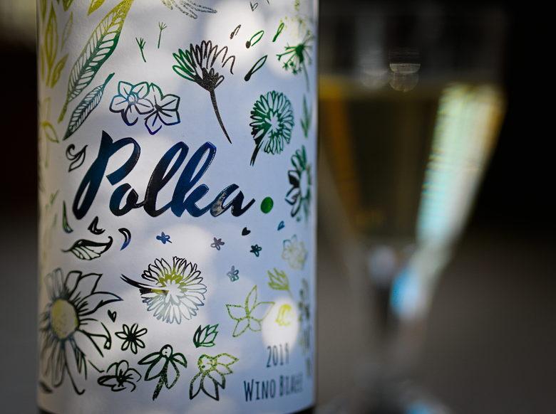 Białe wino Polka 2019